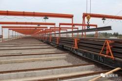 盐通铁路6月正线铺轨!全线335公里长轨已存储到位!