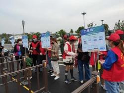 百余志愿者齐聚东晋水城,唱响青春之歌