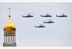 俄羅斯舉行勝利日空中閱兵彩排