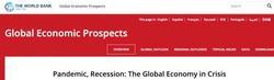 世界银行预测全球经济或将迎来衰退 中国将保持增长
