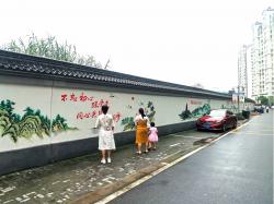 助力创文,东台西溪景区扮靓文化墙