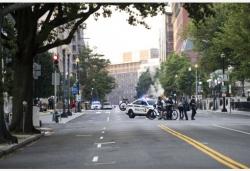 白宫附近发生枪击事件 特朗普记者会被打断
