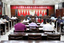 张庄街道举办基层党建工作业务培训班