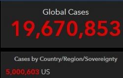 美国累计新冠确诊病例超过500万例