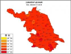 無關地域、不分南北,今天江蘇氣象代名詞:紅火與黑化