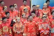 长沙举办中式集体婚礼