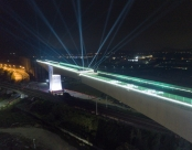 新建福厦铁路西溪特大桥跨杭深铁路转体梁成功转体