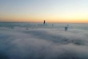 贵阳出现大雾天气