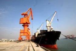 长181米!来自印尼 盐城港滨海港区迎来首艘外贸货轮
