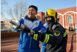 消防演练走进特教校园