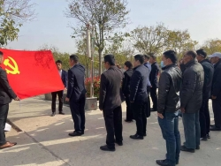鹽瀆街道組織退役軍人黨員開展清明掃墓活動