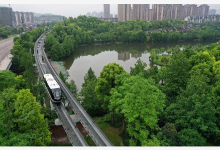 """重庆首条自动驾驶""""云巴""""示范线开通运营"""