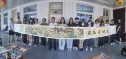东台:创作发绣长卷《百鹤图》庆祝建党百年