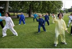 比利时:公园舞太极