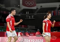 东京奥运会|有惊无险!羽毛球混双四强中国队锁定两席