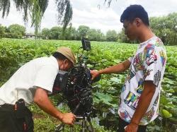 央视走进大纵湖度假区拍摄《我的美丽乡村》纪录片