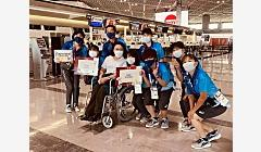 东京残奥会首批中国代表团成员载誉回国