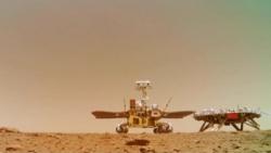 """""""祝融号""""驶上火星表面满百天:火星车的设计寿命为90个火星日"""